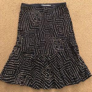 Diane von Furstenberg Navy/White Isabell Skirt